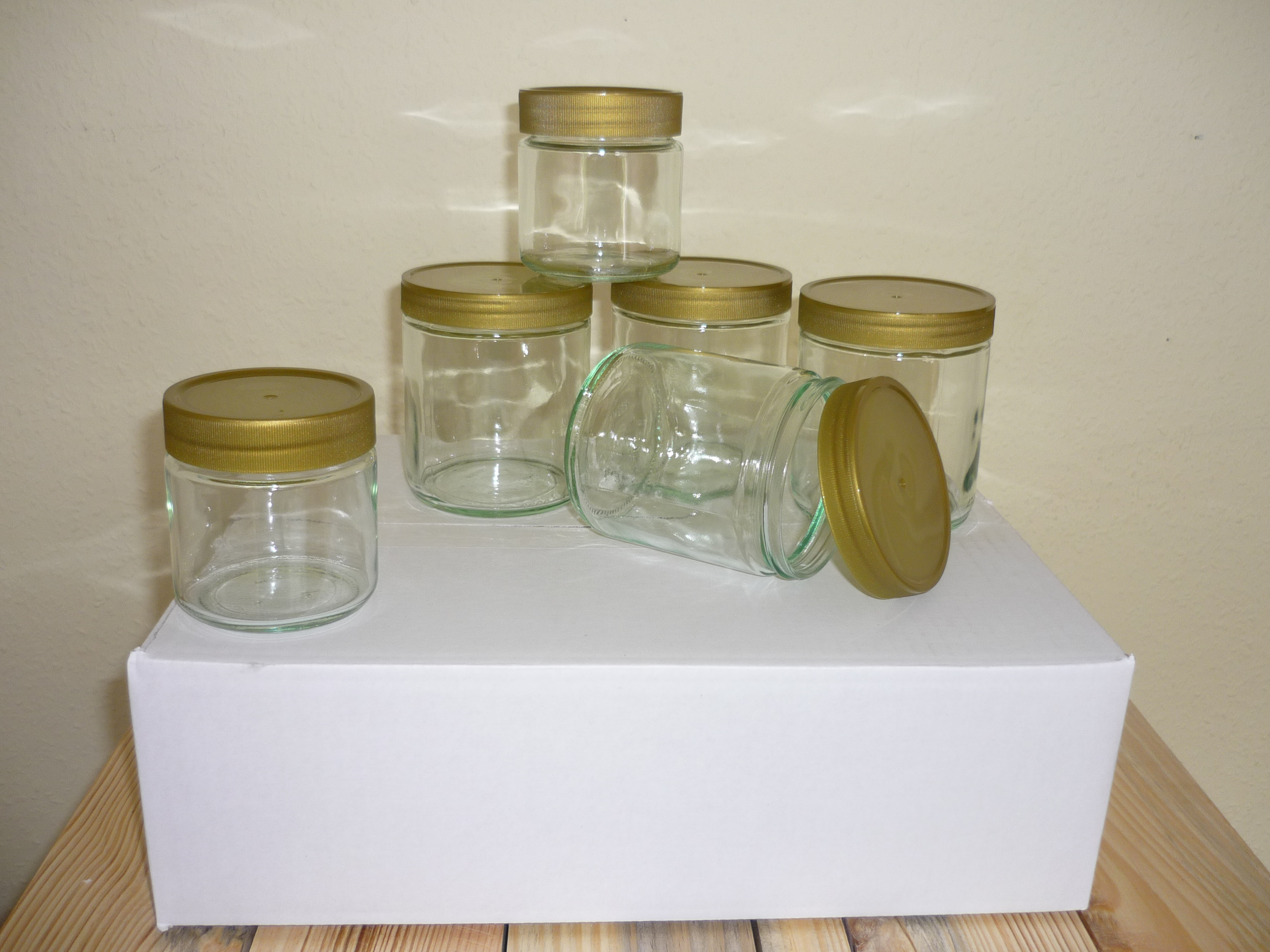 Gläser, Glasverpackungen & Etiketten
