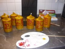 Individuelle Kerzengestaltung